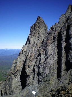 Mountain, Cliff, Oregon, Pct, Blue Sky, Outside, Nature