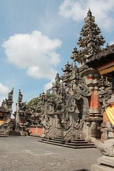 Art Center, Bali, Asia, Tempe, Carving, Decoration