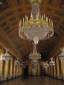 Chandelier, Royal Palace, Compiègne, Ballroom