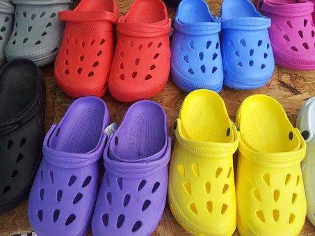 Shoes, Ggummischuhe, Garden Shoes, Glogs, Colorful