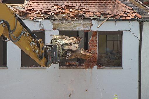 Excavators, Home, Demolition, Site