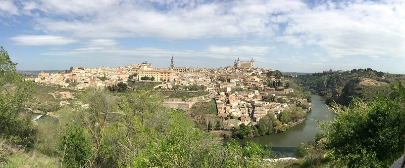 Landscape, Old Town, Monuments, Toledo, Parador