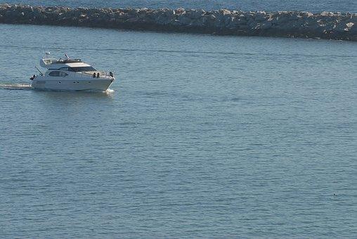 Sea, Newport, Beach, Boat, Breakwater, Ocean, Bay