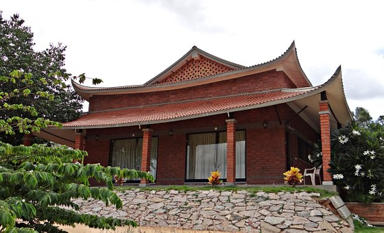 Cottage, Pagoda-style, Pyramid Valley, Bangalore, India