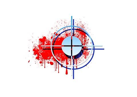 Blood, Blutfleken, War, Red, Crosshair, Visor