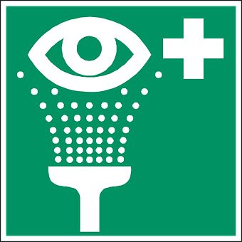 Eye Shower, Eye Wash, Rinse Eyes, First Aid, Sign