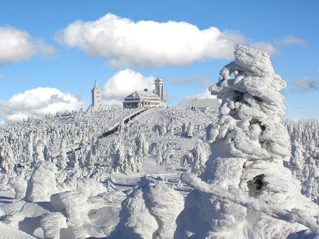 Winter, Frost, Fichtelberg, Oberwiesenthal, Saxony