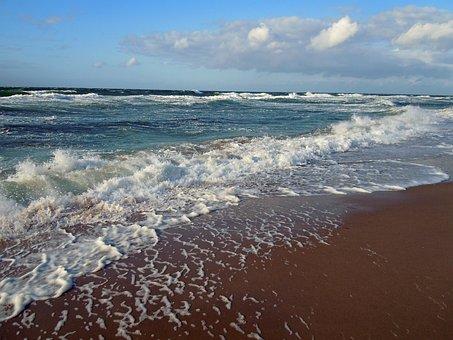 Sea, Beach, Agitated Lake