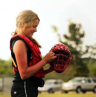 Softball, Catcher, Sport, Player, Catch, Athlete