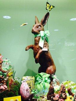 Hare, Easter, Egg, Sprüngli, Zurich, Switzerland