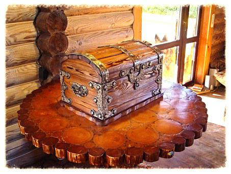 Chest, Table, Tree, Antique, Natural