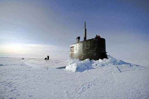 Arctic Ocean, Submarine, Us Navy, Through The Ice