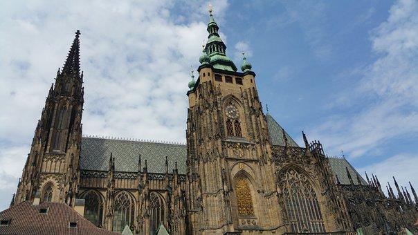 Prague, Cathedral, St Vitus, Czech, Vitus, Church