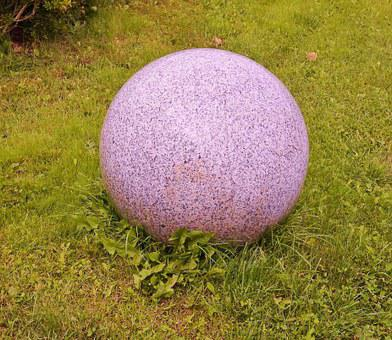 Stone Ball, Stone, Round, Large, Granite, Color, Pink