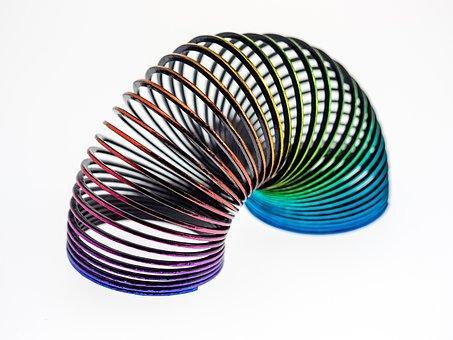 Spiral, Color, Round, Toys, Rainbow, Treppenläufer