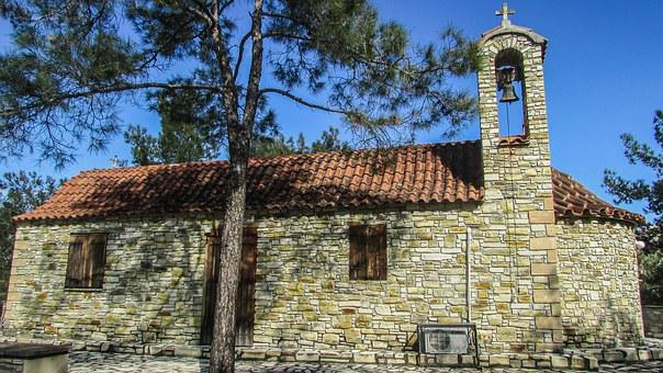 Cyprus, Larnaca District, Countryside, Chapel