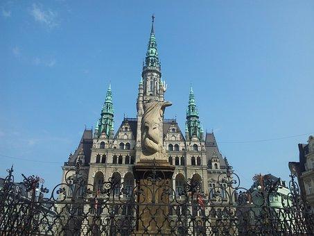 Liberec, Czech, Czech Republic, City Hall, Cities
