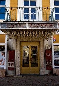 Lazne, Czech Republic, Hotel Slovan, Architecture