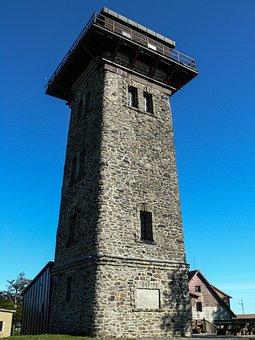 čerchov, Short čerchov Tower, Summit, Mountains