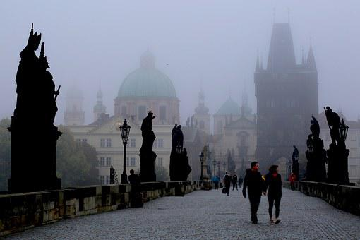 Prague In The Morning, Czech, Central Europe