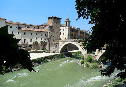 Rome, Tiber Island, River