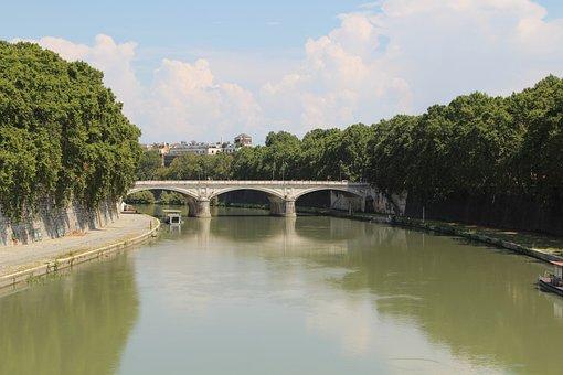 Italy, Europe, Tourism, Landscape, Nature, River, Tiber