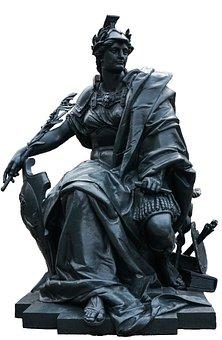 Paris, Statue, Fig, Metal, Woman, Sculpture
