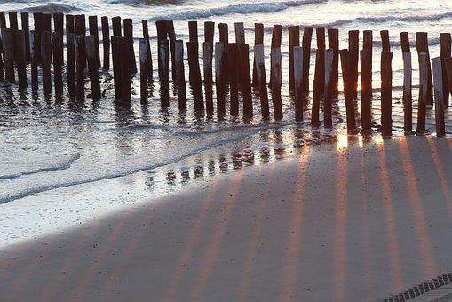 Palisades, Sunset, Walcheren, Sea