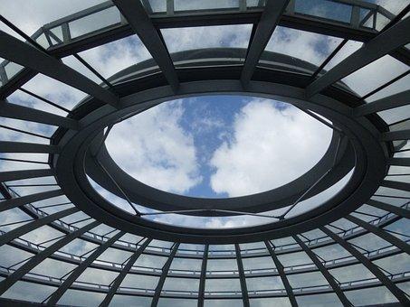 Empire Tags Dome, Glass, Architecture Berlin, Sky