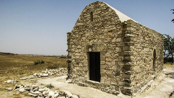 Cyprus, Tersefanou, Church, Old, Stone Built