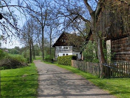 Woodhouse, Away, House, Lane, Farm, Czech Republic