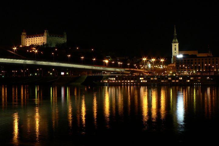 Slovakia, Bratislava, Castle, Danube, River, City