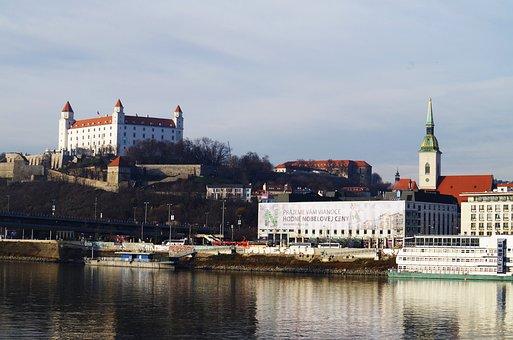 Castle, Bratislava, Slovakia, Danube, City, View, River