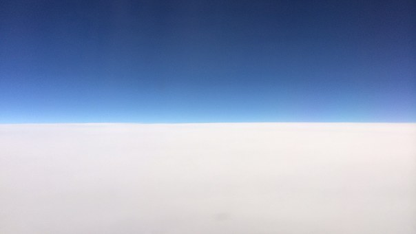 Blue Sky, Sky, Cloud, The View From The Airplane