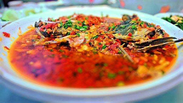 Red Pepper, Duojiaoyutou, Hunan, Delicious, Gourmet