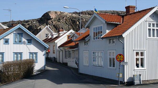Sweden, Fjällbacka, Wooden House, Mountain, Fjallbacka