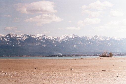 Montana, Flathead Lake, Flathead, Mountains, Lake