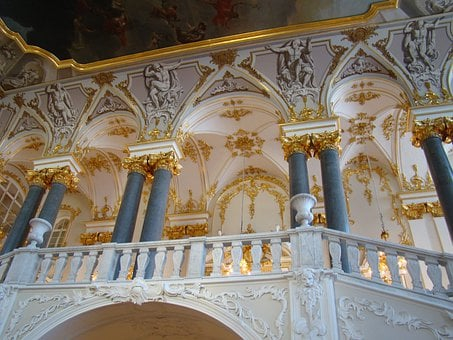 Hermitage, Winter Palace, Petersburg, Balcony, Columns