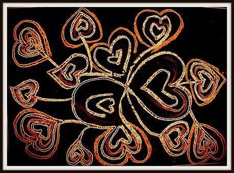 Heart, Romance, Digital, Drawing, Oil Paints, Love