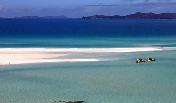 Ocean, Sand, Boats, Sand Beach, Great Barrier Reef