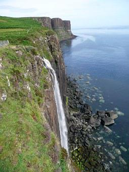 Waterfall, Scotland, Kilt Rock Waterfall, Kilt Skirt