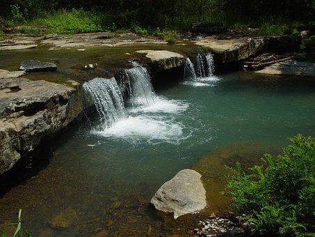 Ozark, Stream, Waterfall, Stage Coach