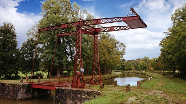 Drawbridge, Movable Bridge, The Nivernais Canal