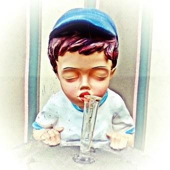 Boy, Figure, Painting, Face, Head, Child, Human, Inhale