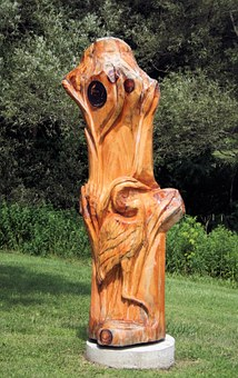 Carving, Wood Carving, Crane, Bird, Nature