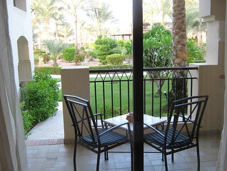 Terrace, Chairs, Hotel, View, Outdoor, Resort, Vacation