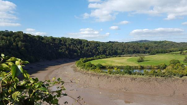 River, Wye, Chepstow, Landscape, Monmouthshire