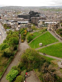 Calton Hill, Edinburgh, Landscape, City