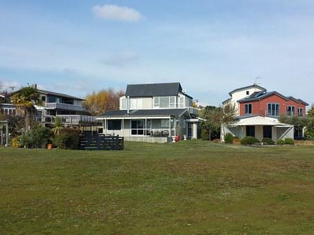 Landscape, House, Vie, Estate, Green, Modern House