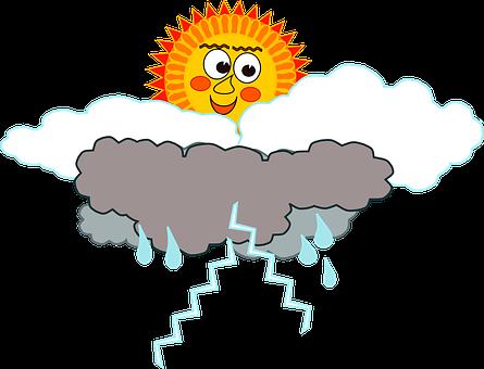 Clouds, Face, Rain, Sol Nuvem Chuva Raio Tempo, Sun